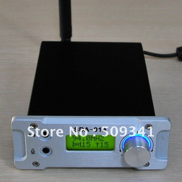 Freeshipping! NEW CZH  SDA-01A Professional PC Control FM Transmitter Radio broadcast station USB 76-108MHZ Silver
