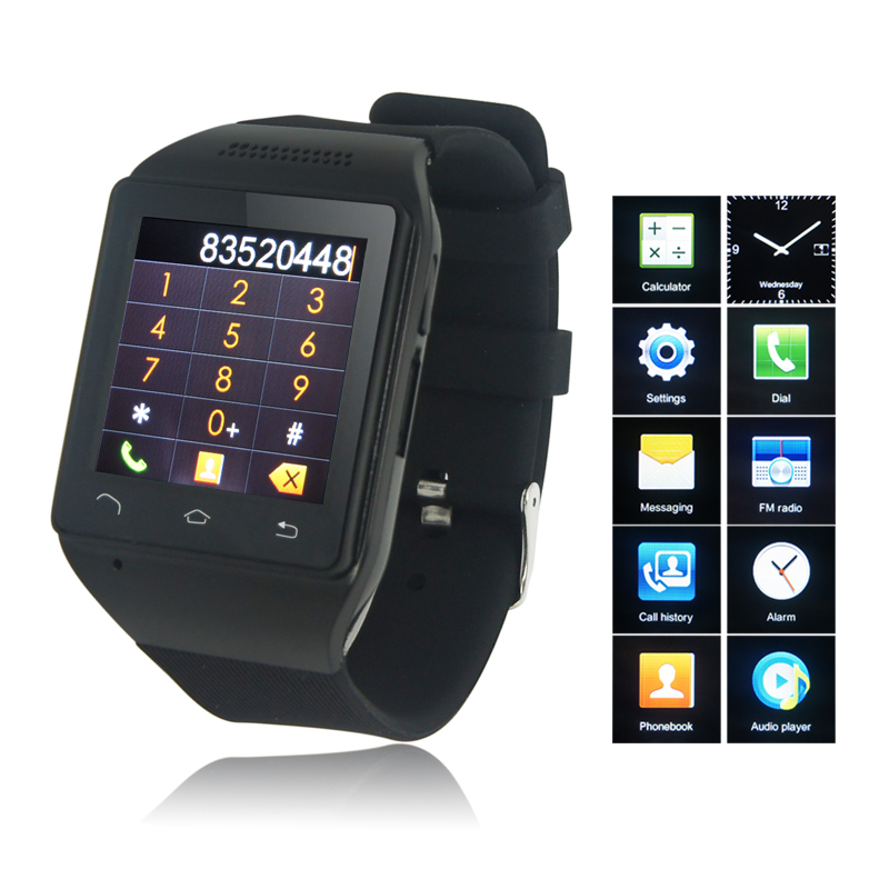 2015 Fashion S18 Smart Watch 1.54 inch Capacitive Touch Screen Bluetooth GSM SmartWatch Mobile Phones MP3 FM Radio free shipping(China (Mainland))