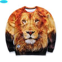12-18years big kids brand sweatshirt boys youth fashion lion king 3D printed hoodies girls jogger sportwear teens W25(China (Mainland))