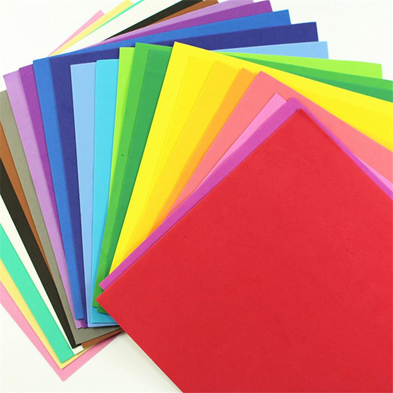 10pcs/lot 25x25cm 1mm Thick Multicolor Sponge DIY Foam Paper Fold Scrapbooking Paper Cutting Craft(China (Mainland))