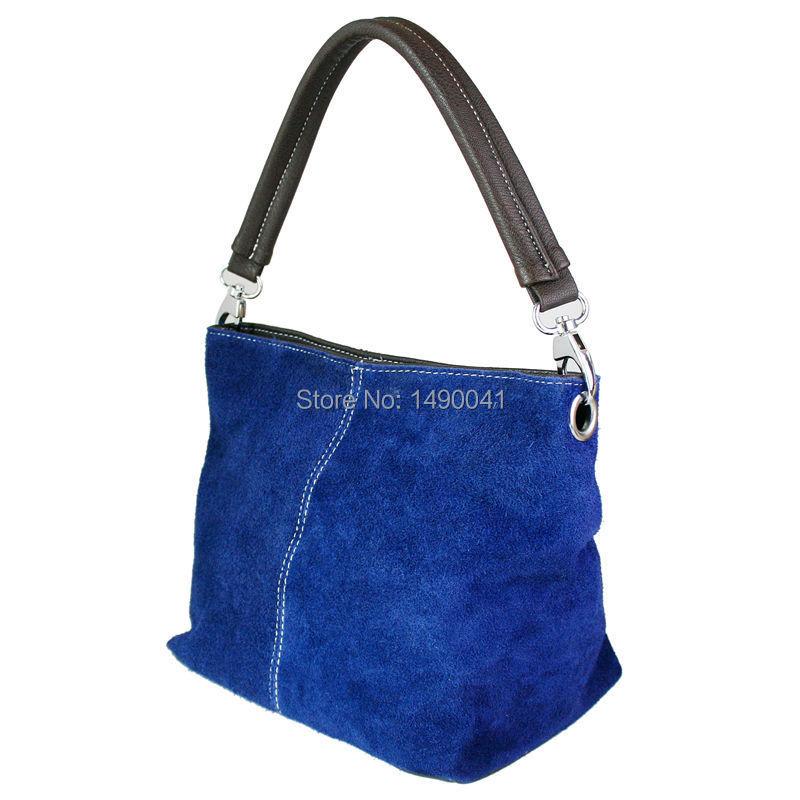 Women Celebrity Real Italian Suede Leather Handbag Vintage Hand Bag 9 Colors(China (Mainland))