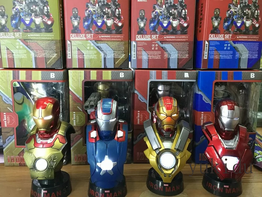 Iron Man action figures mini On-board bust 1/6 Scale irradiative model toys 4pcs/set box packagaing<br><br>Aliexpress