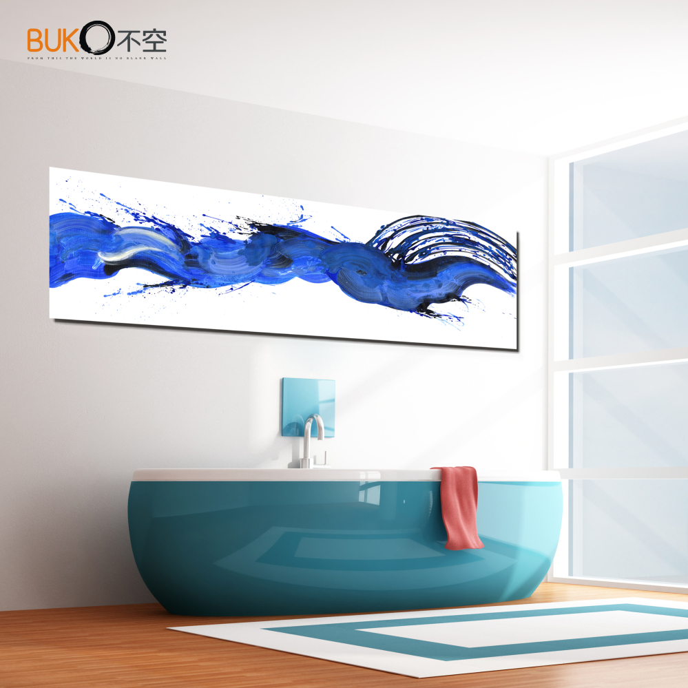 Buy home decor bathroom wall art painting for Blue bathroom wall decor