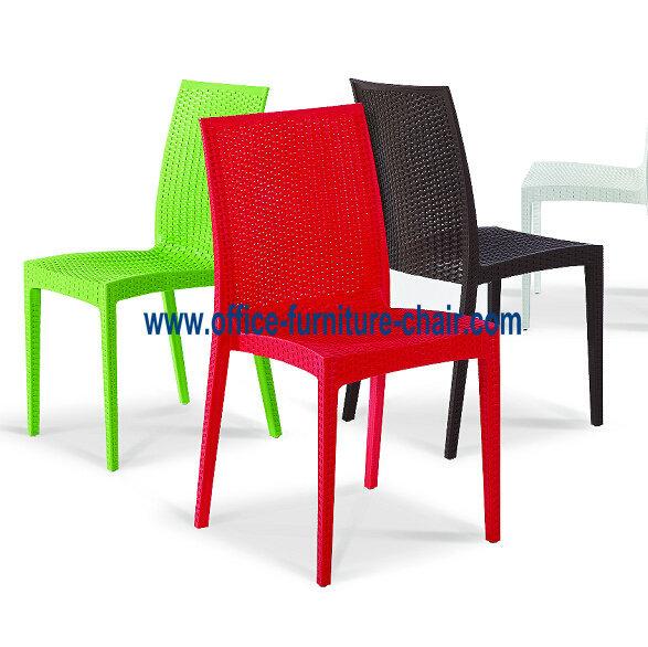Silla de comedor de pl stico pp silla de mimbre nuevo for Sillas comedor plastico
