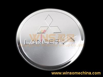 STAINLESS STEEL FUEL/OIL/GAS TANK COVER/CAP FOR MITSUBISHI LANCER 2009(China (Mainland))