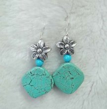 free ship fashion colour turquoise jewelry findings earrings 10pieces/lot(China (Mainland))