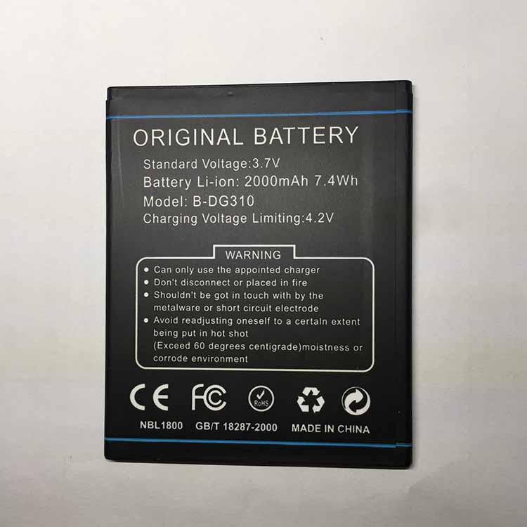 2000mAh Capacity Battery FOR DOOGEE DG310 B-DG310 Best Quality Factory Price Smart Phone Battery For Doogee dg310