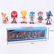 Buy Sonic Hedgehog PVC ACtion Figure Toy Retail Box 6pcs/Set for $11.75 in AliExpress store