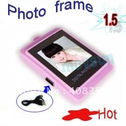 Photo Frame   1.5 inch LCD Digital Photo Frame with Keychain(Free shipping)