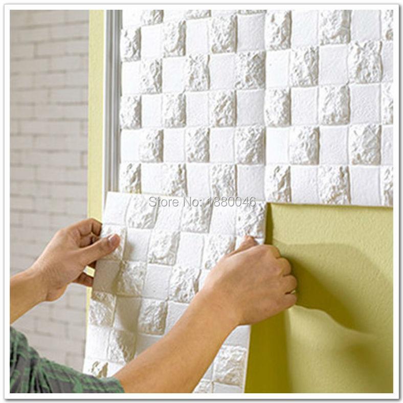 Brand 18square feet pe foam 3d plate flexiable brick 3d for Placas decorativas paredes interiores