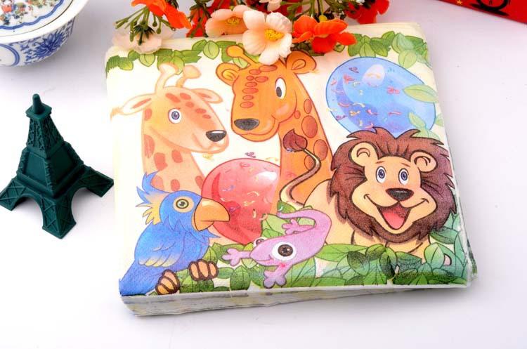 Free shipping Printed Table Napkins Party Napkin Printing Napkin Paper Colorful Tissue Napkin ( 10packs=200pcs)(Hong Kong)