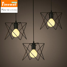 Buy KM Vintage retro pendant lamp metal M cage lampshade lighting hanging light fixture for $25.35 in AliExpress store