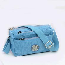 Lightweight Waterproof Handbags Women 2016 Sewing Thread Nylon Shoulder Bag Ms Messenger Bag Outddoor Casual Handbag