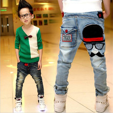 Children's clothing jeans fashion 2016 spring and autumn kids medium-large  for boys jeans trousers hot-selling Fluid Systems(China (Mainland))