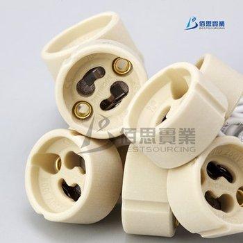 FREE SHIPPING! Wholesale 20pcs/lot GU10 Lamp Holder Bulb Socket base Ceramic Wire Connector