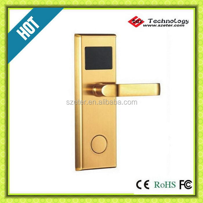 Digital electric Promotion Hot Sale! RF M1 Hotel door lock controlled by computer ET100RF(China (Mainland))