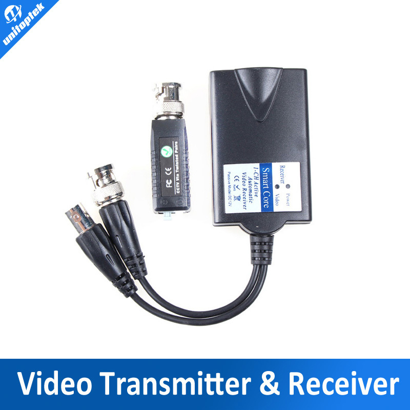 Full Automatic video receiver active Video Balun Signal splitter, 1CH Video input to 2CH Output,1400m with passive