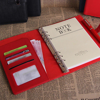 4 Size Personal Pocket Organiser Planner PU Leather Cover Filofax Diary Notebook(China (Mainland))
