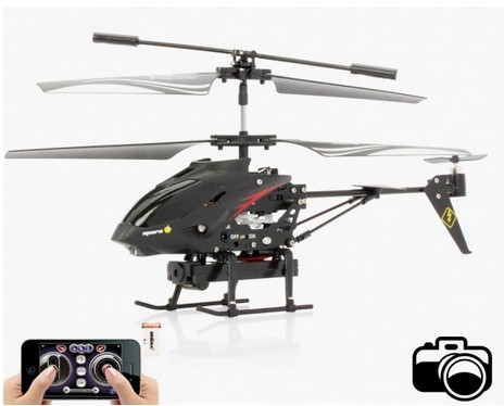 Free Shipping!3.5ch video rc airplane FPV  drone with camera gyro by i'phone android control S215