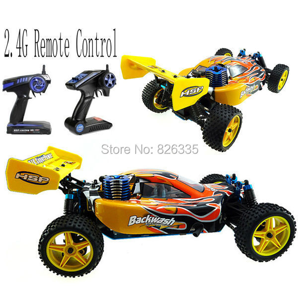 HSP High Speed 2CH 1/10 Scale Models Nitro Gas Power 4wd Rc Car Toy Off Road with Remote Control(China (Mainland))