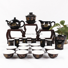 New Arrival Ceramic Tea Set  Traditional Chinese Tea Cup&Teapot Set with Gaiwan