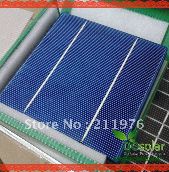 100 Pcs/ Lot, High effiencicy 3.8W-3.9W 6 inch (156*156) Polycrystalline 2 busbars, solar cell for DIY solar panel , system kit