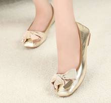 On behalf of a factory direct foreign trade merchandiser flat shoes are comfortable Bow Shoes shoes