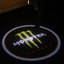 2pcs LED Car Door Welcome Light Laser Car Door Shadow led Projector Logo For Monster Skull Energy(China (Mainland))
