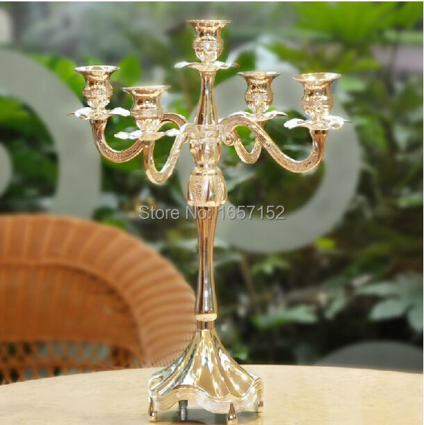 Branch silver plated alloy metal centerpiece candelabra