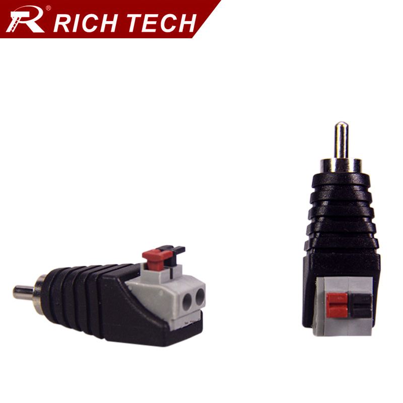 online get cheap connector wiring aliexpress com alibaba group 5pcs rca connector plug jack rca balun terminals cable wire connector audio speaker cctv adapter