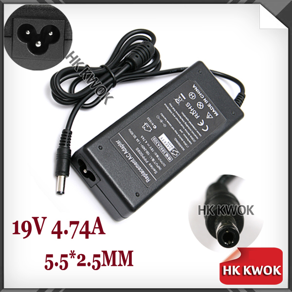 AC Power Supply 19V 4.74A Notebook Laptop Adapter Charger For Asus A46C M50 X43B A8J K52 U1 U3 S5 W3 W7 Z3 For Toshiba F25(China (Mainland))