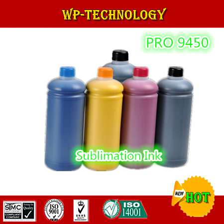 1L*5 pcs Sublimation ink suit for Epson Pro 9450 , water proof ink suit for T6121-T6124 T6128 , 5L Total ,High quality Ink