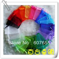 free shipping 1000pcs/lot factory wholesale size 5*7cm Organza Bag Bags with many different colors 100pcs/color