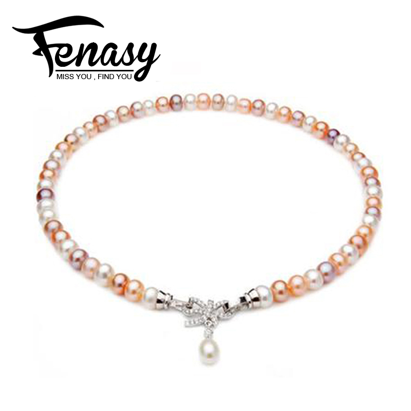 FENASY Pearl Jewelry, freshwater natural pearl bracelets for women, freahwater pearl gift for women,