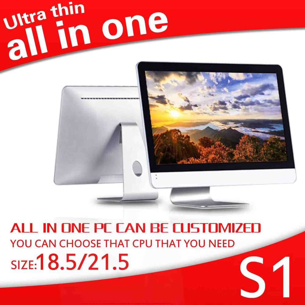 all in one pc mini computer ABS material all in one pc 4g ram 500g hdd 18.5 inch thin client support HD Video Computer HDMI+VGA(China (Mainland))