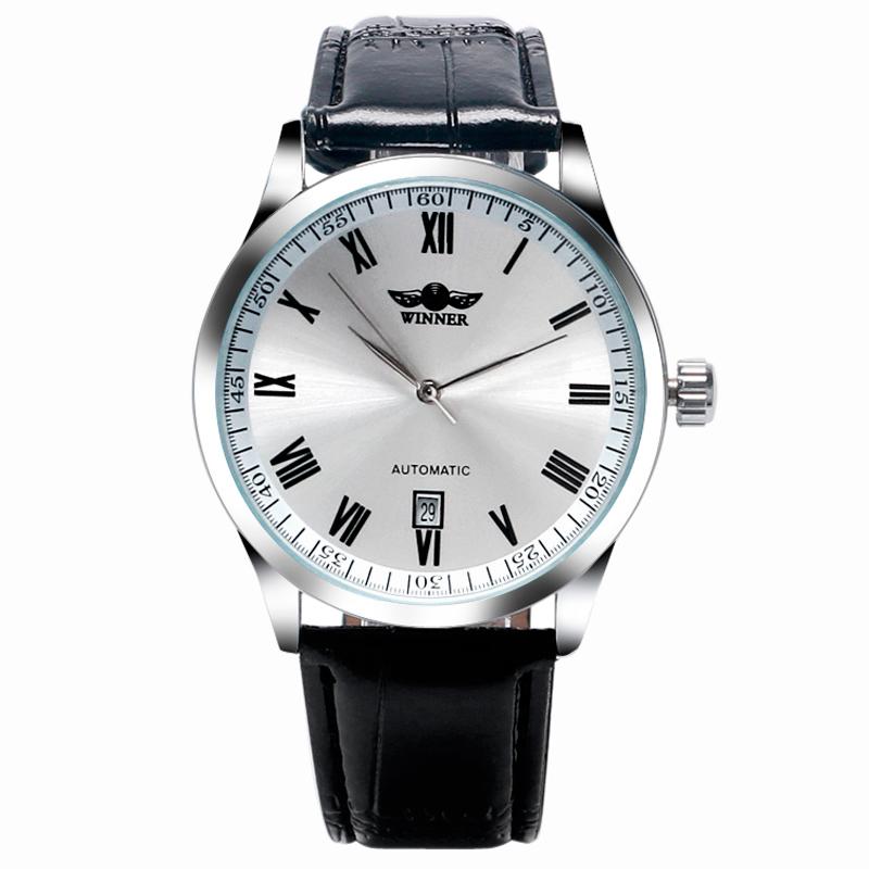 2016 New Famous Brand Winner Men Automatic Mechanical Watch Self-Wind Man Dress Casual Analog Wristwatch Auto Date W18440(China (Mainland))