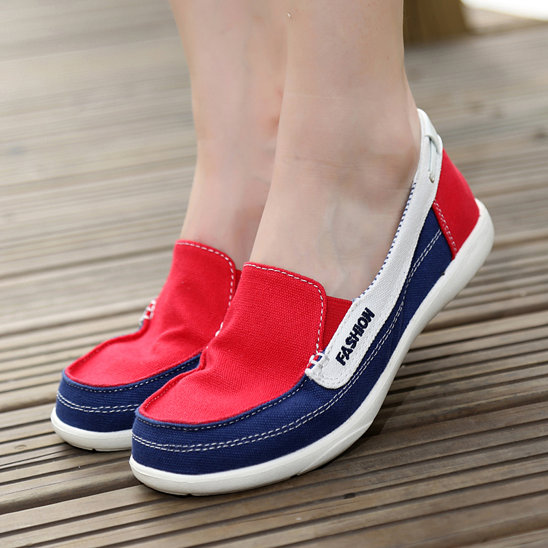 Fashion Women Casual Shoes Spring Autumn Zapatos Feminino Zapatillas Deportivas Mujer Mixed Color Canvas Shoes Woman Size 35-40