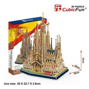 Candice guo! 3D puzzle toy CubicFun 3D paper model MC153h iglesia de la sagrada familia good for gift 1pc