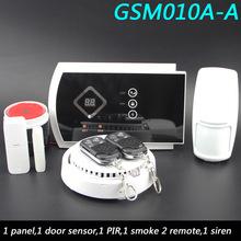 Голосовые подсказки Беспроводной/проводной SMS GSM сигнализация Системы Домашняя Авто безопасности Системы S с PIR/двери сигнализации Сенсор пр...(China)