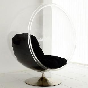 Aiello aarnio bubble chair acrylic bubble chair swivel chair space transpar - Fauteuil bubble chair ...