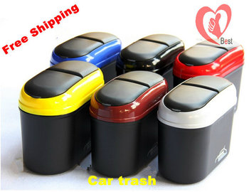 Free shipping car trash vehicle carrying bucket of the removable door edge bins car paste material barrel trash
