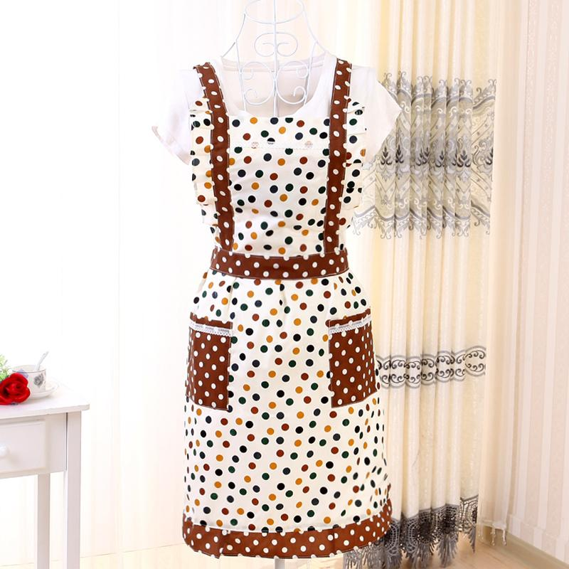Han Edition Fashion Cloth Art Furniture The Princess Style Apron Korean Lovely Kitchen Waterproof And Oil Sleeveless Apron 10(China (Mainland))