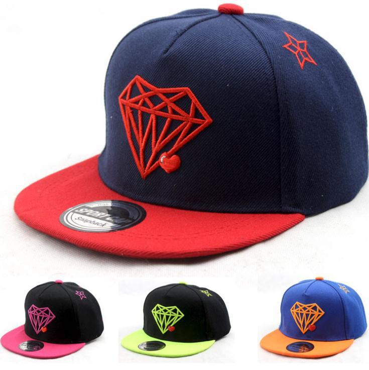 2016 Korean Children Baseball Caps kids Hip hop cap Superman diamond pattern snapback cap For Boys Girls Peaked cap(China (Mainland))