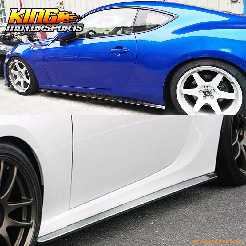 Fit For 12-15 Subaru BRZ & Scion FR-S GT86 CS Style Side Skirts Carbon Fiber CF