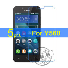 5pcs Ultra Clear LCD Screen Protector Film Cover For Huawei Y560 Protective Film  +  cloth