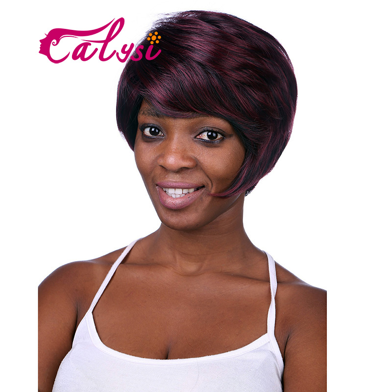 ombre synthetic wigs burgundy bob wigs cheap synthetic sexy female short haircut wigs best natural looking women wigs 0114-02(China (Mainland))