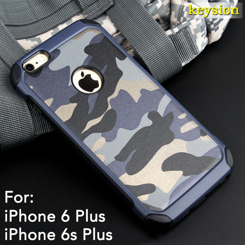 Case for iPhone 6 Plus 6S Plus Special Camouflage Style 2 in 1 Hard Silicon Back Phone Cover for iphone6+ 6s+ 5.5'' New Arrival(China (Mainland))