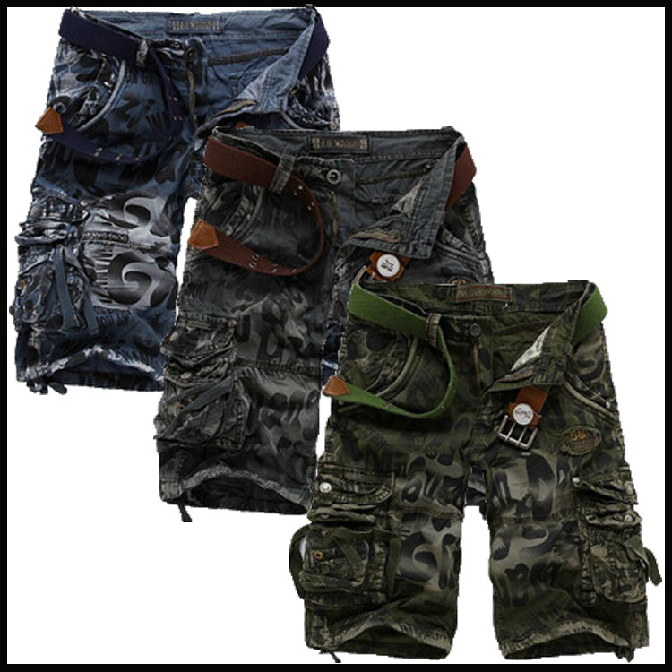 Free shoping polo shorts Military Clothing Loose, casual camouflage cargo shorts Large yard Multi-pocket shorts men 66.64(China (Mainland))