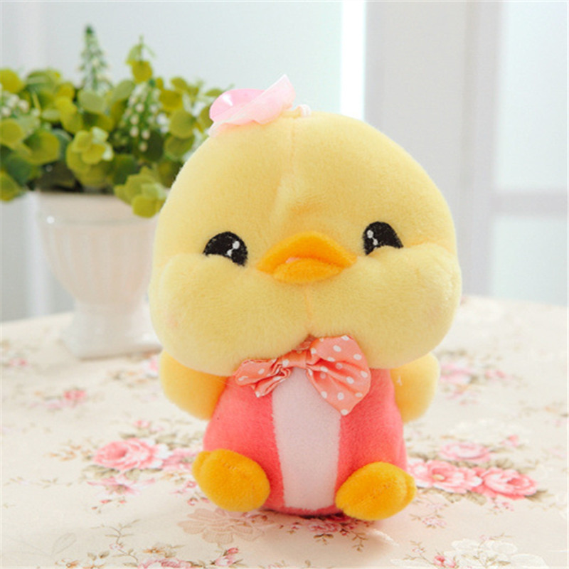 20CM One Piece Easter Day Present Creative Chicken With Tie Soft PP Cotton Stuffed Plush Toys Festival Children Gifts 2 Colors(China (Mainland))