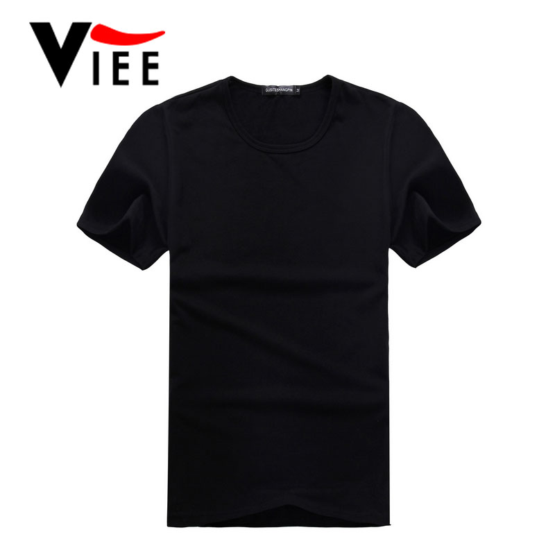 Direct manufacturers new men's short sleeve T-shirt solid cotton simple T shirt for men vc4050(China (Mainland))